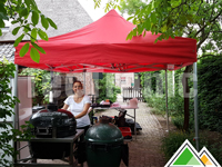 Tente easy-up professionnelle rouge (BBQ Class)